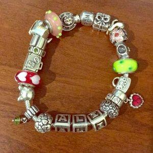 Pandora bracelet with 22 charms